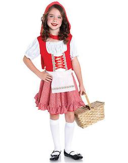 Little Red Ridding Hood Storybook Fairy Girls Halloween Cost