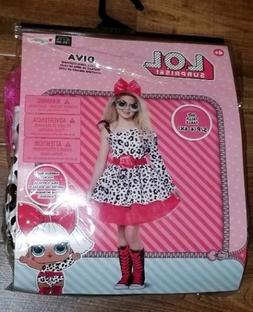 LOL Diva Deluxe Child Costume Small 4-6X w Glasses Disguise