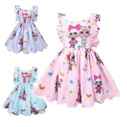LOL Surprise Girl Doll Kids Baby Backless Tie Ruffle Party P