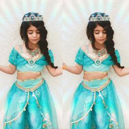 aladdin jasmine princess cosplay baby kid girl