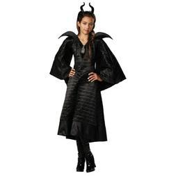 Maleficent Costume Kids Disney Halloween Fancy Dress