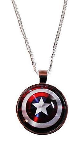 marvel comics captain america logo shield glass