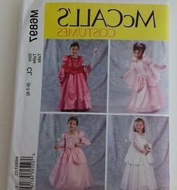 Mccalls M6897 Girls Costume Princess Size 6 7 8 Just Pretend