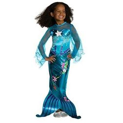 Mermaid girl child costume, color blue, Kid US size 5, new s