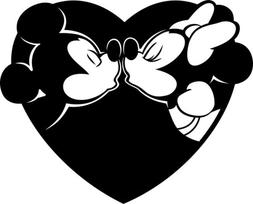 Disney Mickey Mouse and Minnie Mouse Vinyl Sticker/Decal
