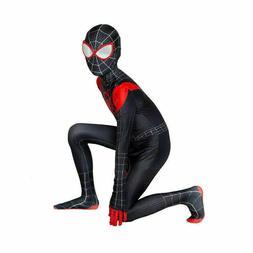 Miles Morales Spider-Man Cosplay Costume Jumpsuits Unisex Ki