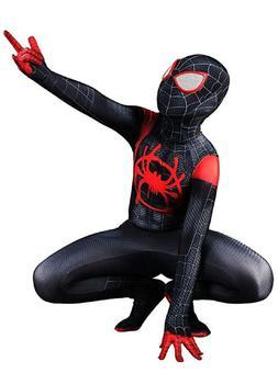 Miles Morales Spider-Man Costume Jumpsuits Bodysuits Unisex