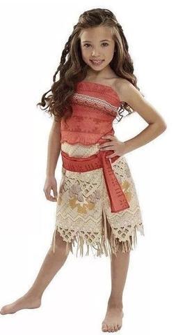 Disney Moana Girls Adventure Outfit Costume Size 4-6X Dress ef9e0b53a