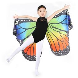 Dance Fairy Monarch Butterfly Wings Cape Dance Costume for K