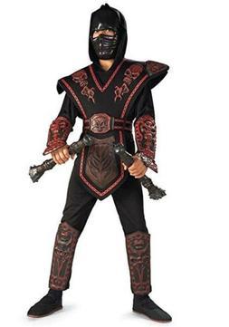 Morris Costumes Boys Red Skull Warrior Ninja Child Costume M