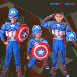 movie Captain America uniform clothing mask cosplay <font><b