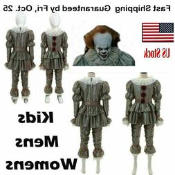 Movie It Chapter Two Pennywise Cosplay Costume Men Kid Clown