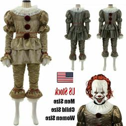 Movie It: Chapter Two Pennywise Cosplay Costume Clown Hallow