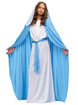 Nativity Mary Child Costume Size 8-10 Medium