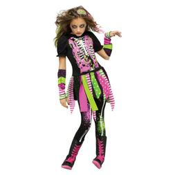 Neon Zombie Girl Kids Halloween Costume | Fun World 111382