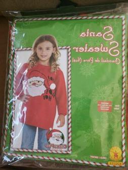 NEW 12-14 Rubie's Costume Co Santa Ugly Christmas Sweater Co