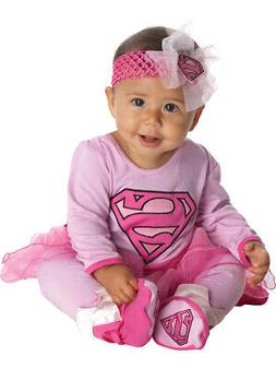 New Childs Super Girl Baby Infant Costume 6-12m