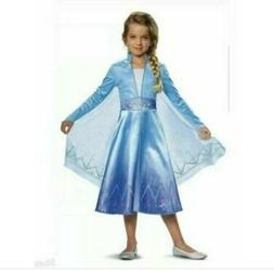 New Disney Frozen 2 Elsa Deluxe Child Costume Size Small 4 -
