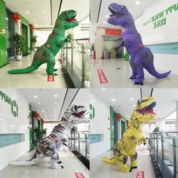 NEW Inflatable T-Rex Dinosaur Costume Adult Kids Fancy Dress