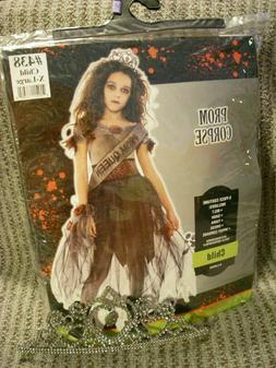New Prom Corpse Zombie Girl Costume Skull Tiara Child Medium