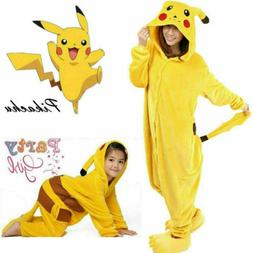 NEW Unisex Adult Pajamas Kigurumi Cosplay Costume Pokemon Pi