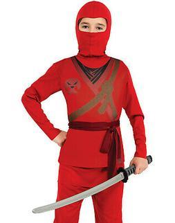 Karate Kid Halloween Costume.Ninja Boy Karate Kid Red Hooded Scarf Ha