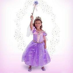 NWT Disney Rapunzel Interactive Deluxe Costume Set for Kids