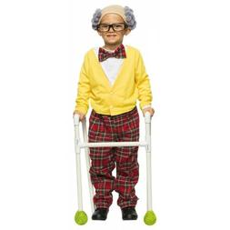 Old Man Costume Kids Grandpa Halloween Fancy Dress