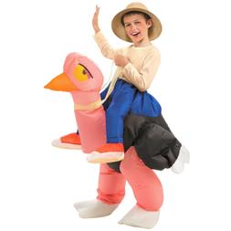 Ostrich Costume Kids Inflatable Rider Ride-on Halloween Fanc