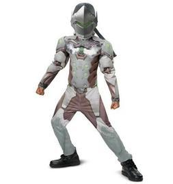 Overwatch Genji Muscle Kids Costumes Size M 7-8
