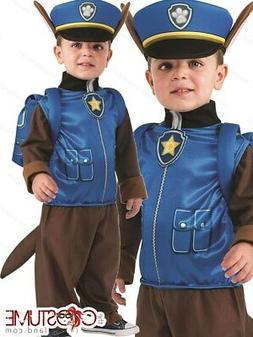 Paw Patrol Chase Costume Kids TV Movie Toddler Cop Cosplay F