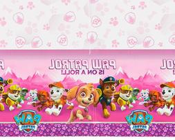 Paw Patrol Skye Pink Table Cover Party Supply Plastic Tablec
