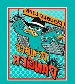 Phineas and Ferb Panel Double Agent Disney Platypus Quilt To