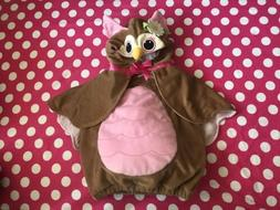 Koala Kids PINK & BROWN OWL Infant Girl's Size 6/9 Months Ha