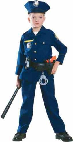 Police Officer Cop Blue Uniform Career Day Fancy Dress Hallo