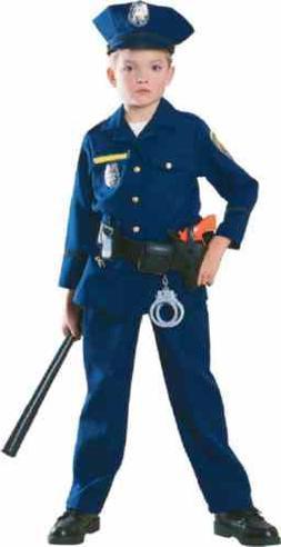 Police Officer Cop Blue Uniform Career Day Fancy Dress Hallo