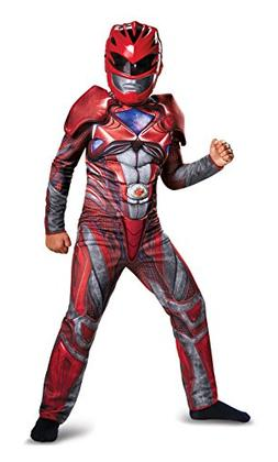 Disguise Power Ranger Movie Classic Muscle Costume, Red, Med