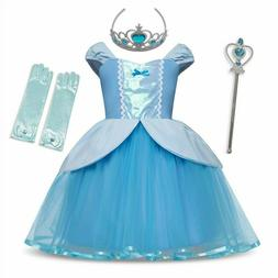 Princess Cinderella Rapunzel Dress Cosplay Costume For Baby
