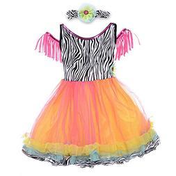 HBB Kids Girl's Princess Dress Up Dance Tutu Costume With He