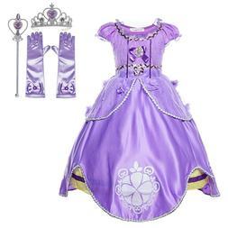 Princess Purple Sofia Costume Dress Party Kids Toddler For G