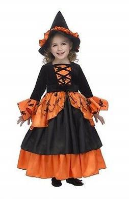 Just Pretend Kids Pumpkin Witch Fairy Costume, X-Small