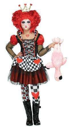 Queen of Hearts CHILD Girls Costume NEW Alice in Wonderland