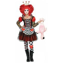 Queen of Hearts Costume Kids Alice in Wonderland Halloween F