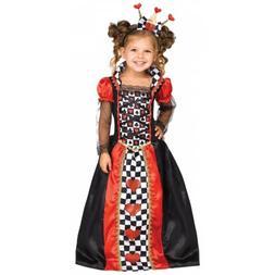 Queen of Hearts Costume Toddler Kids Halloween Fancy Dress