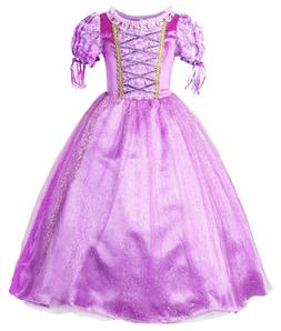 Rapunzel Dress Girls Princess Costume Party Dress Up Cosplay