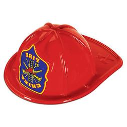 Beistle Red Plastic Fireman Chief Child Helmet Costume Hat
