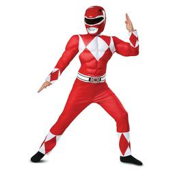 Disguise Red Ranger Classic Muscle Child Costume, Red, Large