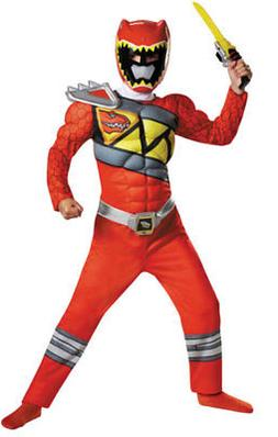 Red Ranger Dino Charge Kids Muscle Costume by Disguise