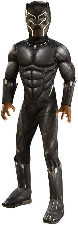 Rubie's Deluxe Black Panther Child's Costume, Gray, Medium