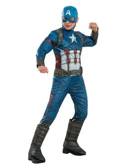 Rubies Costume Company Captain America Children's Deluxe Cos